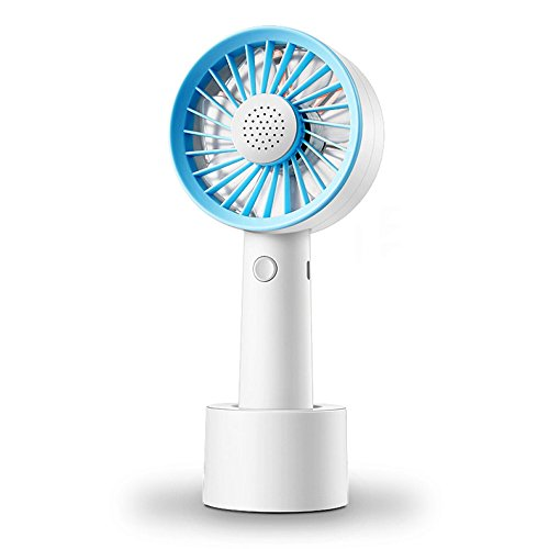 Preisvergleich Produktbild LDFN Mini Tischventilator Für Haus Büro Im Freien Schreibtisch USB Wieder Aufladbar Stumm Tragbar Handlicher Aromatischer Ventilator, Blue-8.5 * 19.7cm
