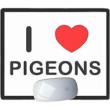 I Love Heart Pigeons - Tapis de souris en plastique
