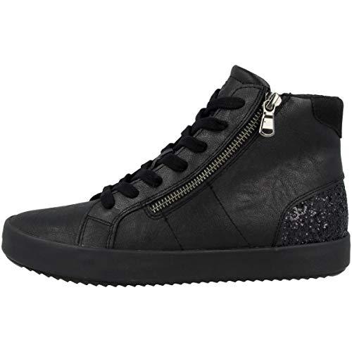 Geox Donna Sneaker BLOMIEE, Signora Scarpe Stringate Basse,Lacci,Scarpe da Strada,Scarpe Stringate,Sportivo,Elegante,Casuale,Schwarz,39 EU / 6 UK