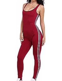 Pantalón de una sola pierna Yoga para mujer - Mono de mono deportivo de una pieza