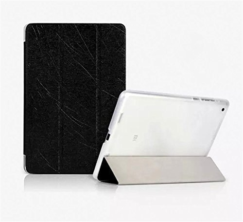 ImagineDesign(TM) Premium PU Rain Leather Back Flip Stand Smart Cover For Xiaomi Mi PAD 7.9 (Textured Pitch Black)