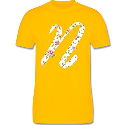 Anfangsbuchstaben - N Rosen - Herren Premium T-Shirt Gelb