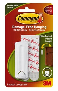 3M Picture Hanging Kit Wire-Backed with Command Adhesive 17041