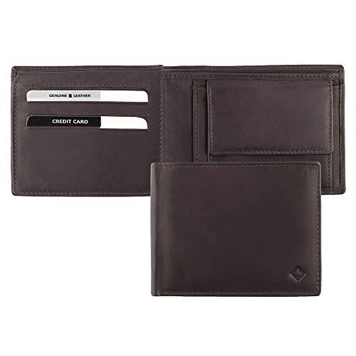 SG ZERO Geldtasche Herren aus weichem Schafsleder - die Standard Geldbörse Herren klein - praktischer Geldbörse Herren Leder mit 11 Kartenfächern - Gucci Card Wallet