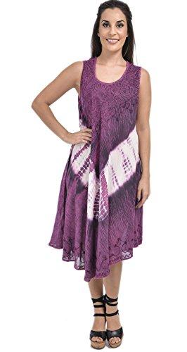 Nightingale Collection Damen A-Linie Kleid Violett