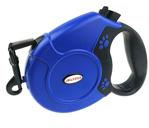 JKLYZXS 5 Farben Optional 5 m/8 m Mittelgroßer Hund Haltbar Automatisch Einziehbar Leine (8 m(Geeignet für Haustiere bis zu 40 Kgs), Blau) -