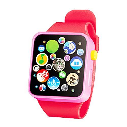 Dyda6 Kinder Smartwatch, 3D-Touchscreen, Smart-Armbanduhr, Tier-Farm Tastatur, elektrisches Klavier, Kinderspielzeug, Early Learning Geschenk für Babys ab 3 Jahren, 2
