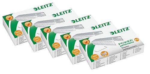 Leitz 55700000 Heftklammer (24/6 mm) 1000 Stück verzinkt (5, 24/6mm)