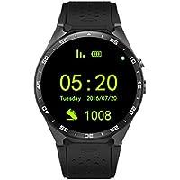 ZfgG Bluetooth Smart Watch Fitness Tracker-Android 3G Voller Kreis mit WiFi Schritt Blutdruck Herzfrequenz GPS Positionierung SIM-Kartensteckplatz Perfekter Wohnassistent (Farbe : SCHWARZ)