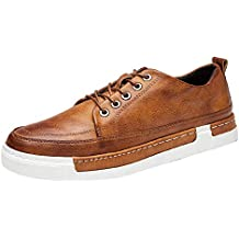Bestow-Zapatos de hombre, Retro Casuales, Zapatos de Gran tamaño con Cordones para