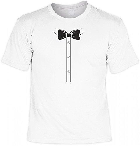rohuf Design T-Shirt Set mit Minishirt - Hemd mit Fliege - Witziges Funshirt Als Geschenk für Den Mann mit Stil, Größe:4XL