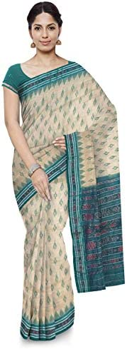 ODISHA HANDLOOM Women's Ikat Cotton & Art Silk Saree (o 5