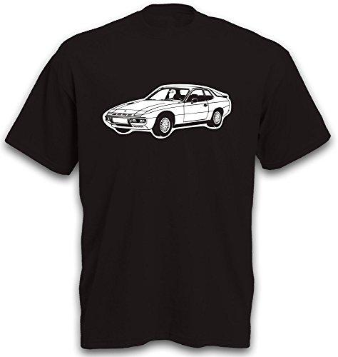 T-Shirt 924 Sportwagen Motiv Youngtimer Gr. S-XXL Schwarz