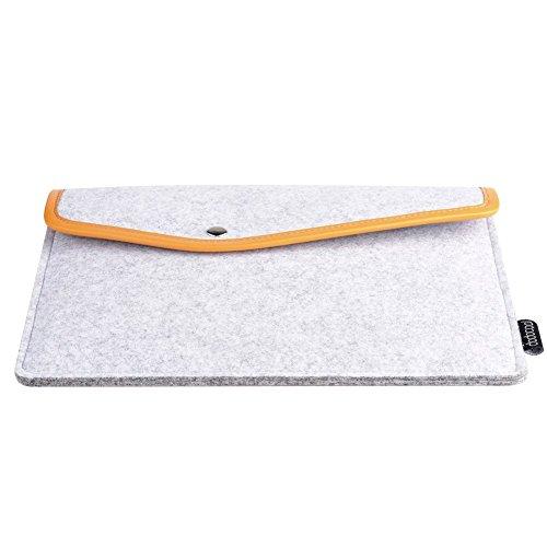 dodocool 9.7 Zoll Laptop Sleeve Hülle Tasche Tragetasche Filz mit Mini Beutel für 9.7 inch Apple MacBook Ultrabook Laptop iPad Pro iPad Air (Reise-notebook-tragetasche)