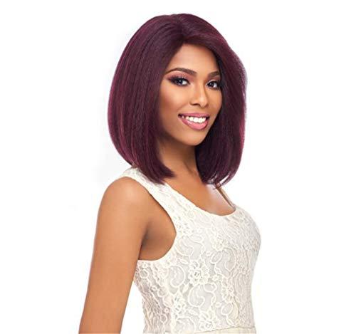 ELEGENCE-Z Frauen Perücken, Europa und Amerika Mittlere Punktzahl Temperament Frau Cosplay kurzes Haar Flauschige Perücke Set Täglicher ()