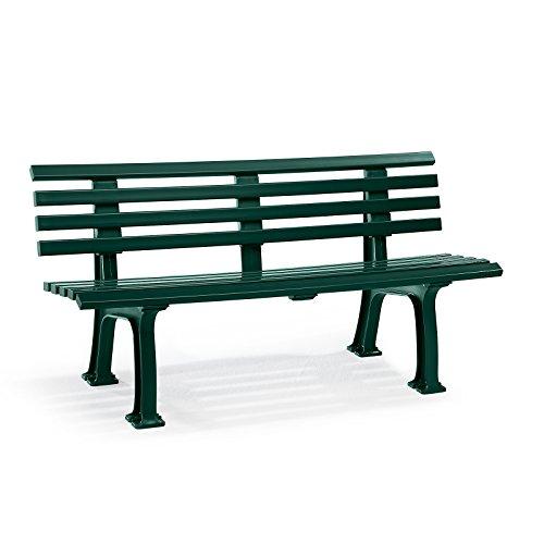 Parkbank aus Kunststoff – mit 9 Leisten – Breite 1200 mm, weiß – Bank Bank aus Holz, Metall, Kunststoff Bänke aus Holz, Metall, Kunststoff Gartenbank Kunststoff-Bank Kunststoff-Bänke Ruhebank - 5