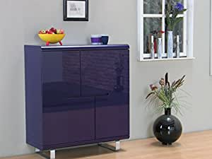 design highboard spacy kommode sideboard dielen schrank m bel lila hochglanz k che. Black Bedroom Furniture Sets. Home Design Ideas