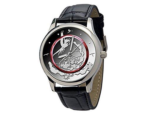 Preisvergleich Produktbild Leder-Armbanduhr TROPISCHE ZONE mit passendem Design zur neuesten 5-Euro-Münze 2017