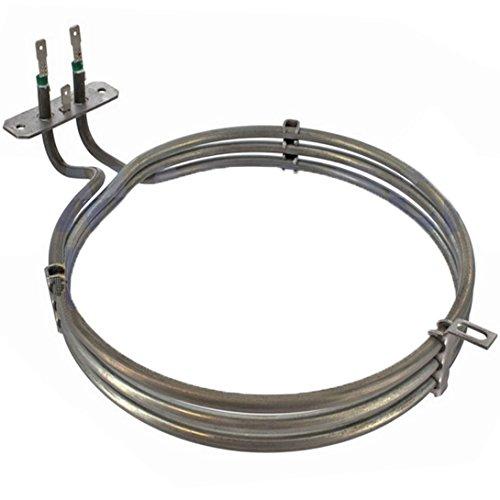 Spares2go 3Gire Elemento calefactor para Miele Ventilador Horno/Cocina (2500W)