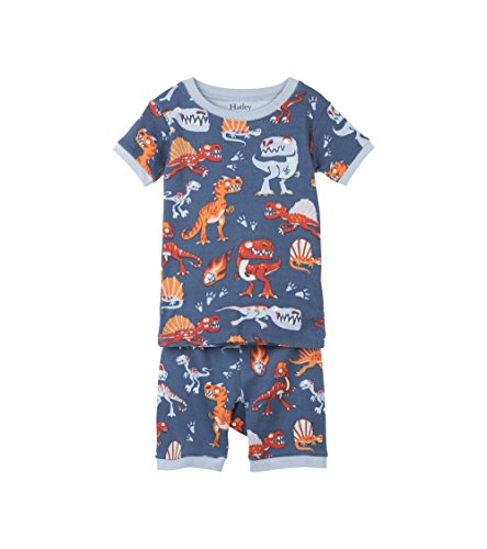 Hatley Boy's Organic Cotton Short Sleeve Printed Pyjama Sets