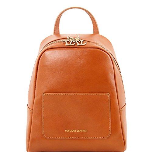 81416144 - TUSCANY LEATHER: TL BAG - Petite sac à dos en cuir pour femme, miel