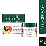 Biotique Bio Peach Clarifying and Refining Peel-Off Mask For Oily and Acne Prone Skin 50gm