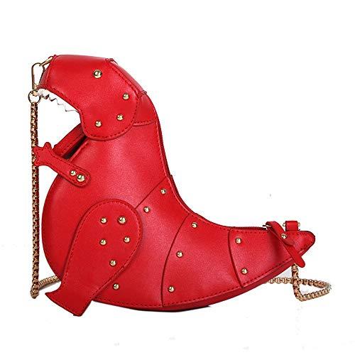 Zegeey sac a main femme Sac à bandoulière en chaîne pour femme avec sac à bandoulière en cuir avec motif de dinosaure Sac à bandoulière à motif animalier pour femme couleur unie Messenger Bag