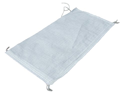 10 Stück PP-Gewebesack- Sandsack weiß 400x600mm