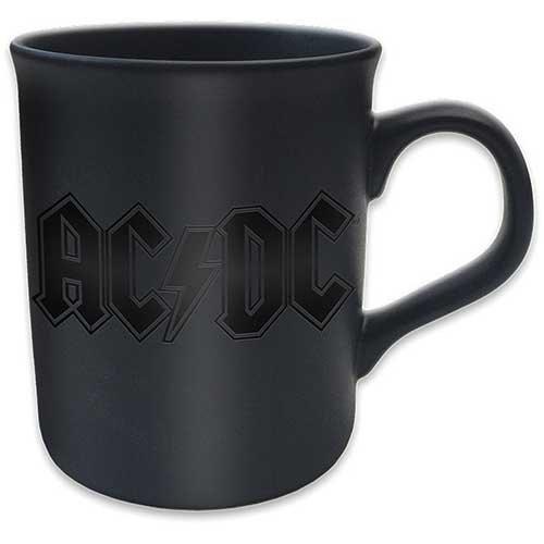 AC DC Black Matt tazza Gloss Stampa Scrittura Premium Deluxe Boxed caffe regalo tazza ufficiale merchandising