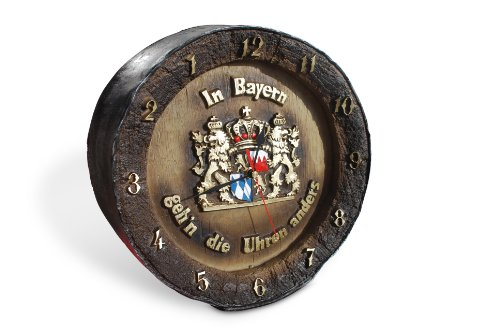 Funice - Reloj inverso, diseño de barril de cerveza y texto en alemán