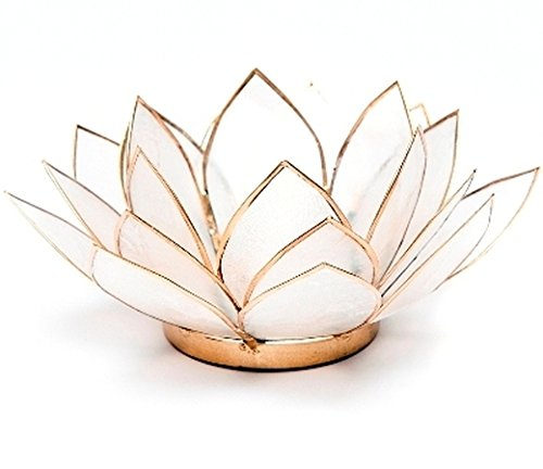 Porte-bougie en forme de fleur de lotus–Naturel (912006)