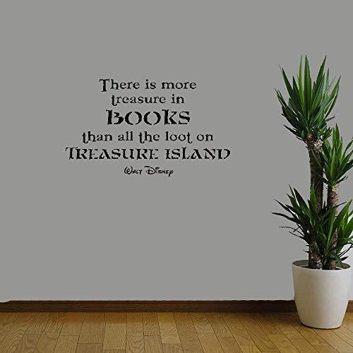 Pegatinas pared bebe Hay más tesoros libros todo