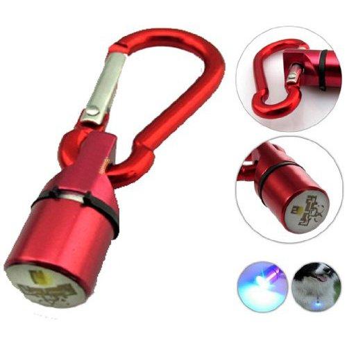 Dcolor Gut sichtbare LED-Blinkhalsband-Anhaenger Tag - Sicherheit fuer Hund / Katze / Tier