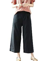 Palazzo Hosen Damen Fashion Elegante High Waist Weiten Bein Hose Unifarben Mode  Marken Loose Bequeme Sommerhose b24930f5bc