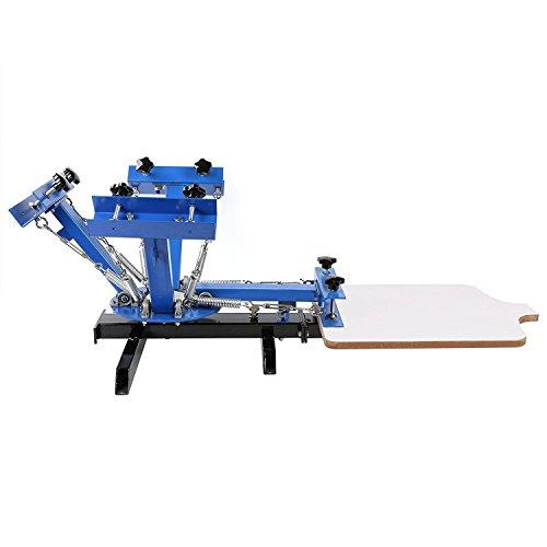 4Farbe 1Station siebdrucks Drücken Rechteck Drucker Wirtschaft -