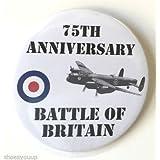 Battle Of Britain 75esimo Anniversario 59mm Spilla Badge a Bottone Distintivo