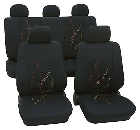Ford C-Max, Housse siege auto, kit complet, noir