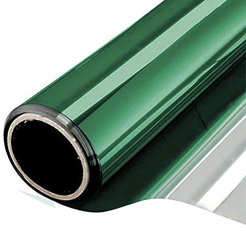 Grünes Glas-türen (BlueDream Fensterglas Film Privatsphäre Isolierung Abnehmbare One Way Dekorative Bildschirm Aufkleber für Home Bad Küche Tür (60 * 200cm, Grün))