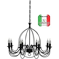 Amazon.it: lampadari ferro battuto - VALASTRO LIGHTING ...