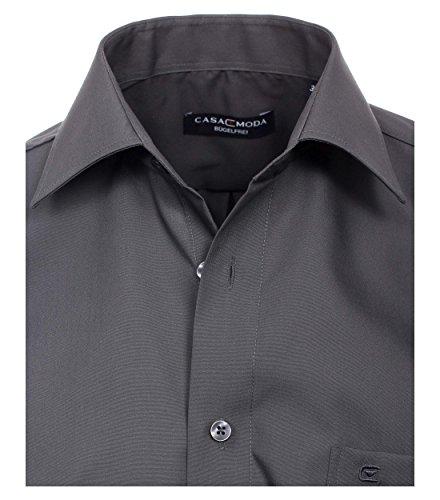 CASA Moda - Comfort Fit - Bügelfreies Herren Business Uni Langarm Hemd (006050) Anthrazit (750)