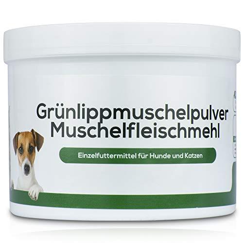 Jean K. - vet® 100% Nicht entfettetes Grünlippmuschelpulver für Hunde - Vollfettqualität mit Allen natürlichen Wirkstoffen - Hunde Barf Pulver 200gr.