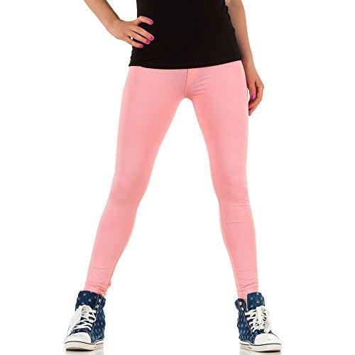 Damen Leggings Hose Slim Strumpfhose Pants Elastische Sommer Treggings Rosa Rosa