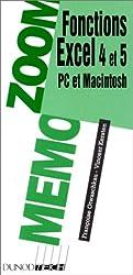 Fonctions Excel 4 et 5. PC et Macintosh