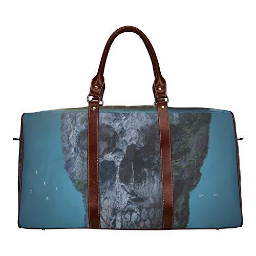 Reisetasche The Magic Forest ist nachts furchterregend wasserdichte Weekender-Tasche Reisetasche Damen Damen-Einkaufstasche Mit Mikrofaser-Leder-Gepäcktasche
