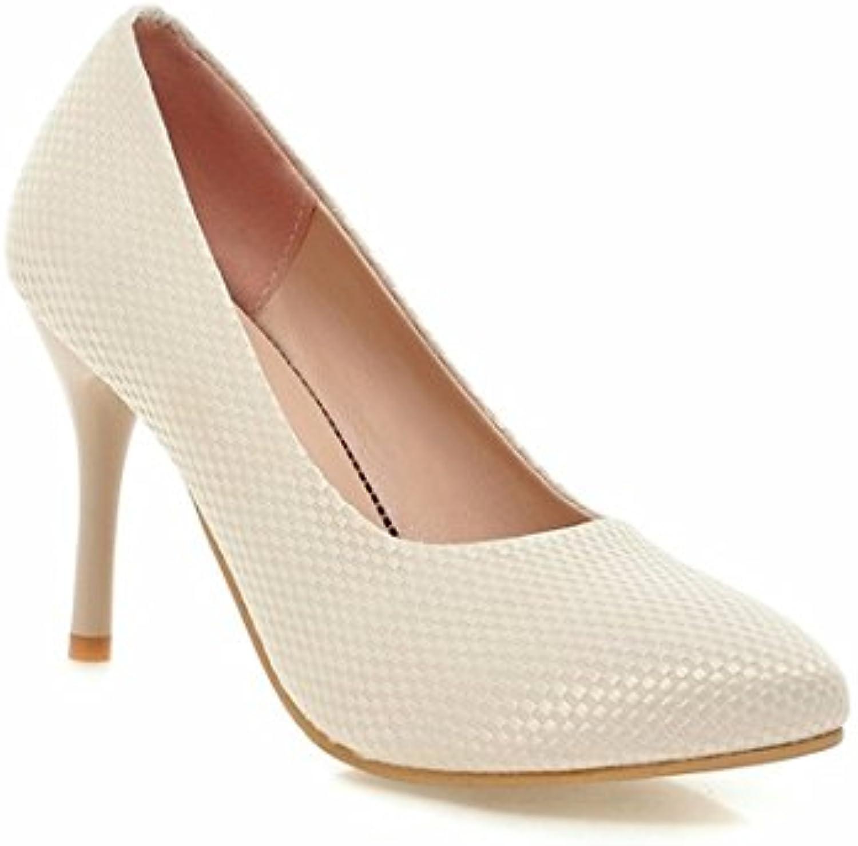 Escarpins Femme Ouvert A souligné Chaussures à à Chaussures Talons Hauts,  Grande Taille 2caa9e54dc73