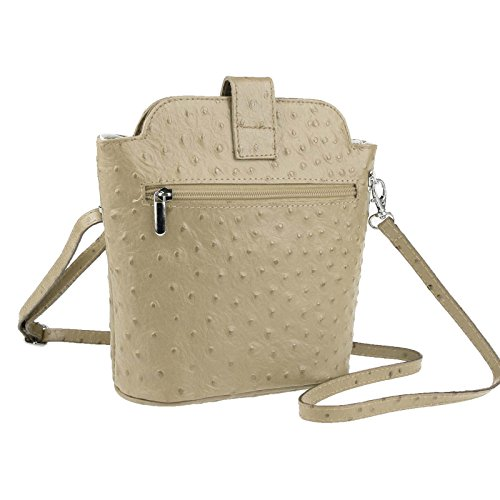 OBC Only-Beautiful-Couture, Borsa a tracolla donna Beige Marrone 19x21x9 cm (BxHxT) Marrone