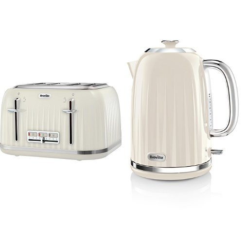 Breville Impressions 4 Slice Toaster and Kettle Bundle – Cream