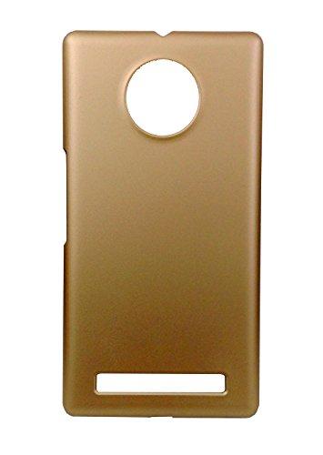 SDO Luxury Matte Finish Rubberised Slim Hard Case Back Cover for Micromax YU Yuphoria - Golden