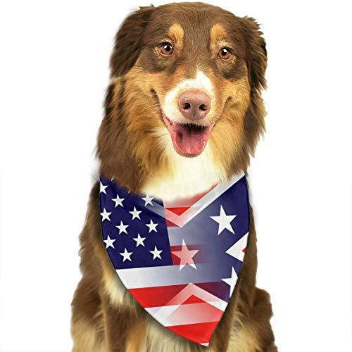 Wfispiy Hund Bandana Haustier Schal American Flag Classic Pet Bandana Haustier Halsbänder für Hund Katze eine Größe - Bejeweled Tier