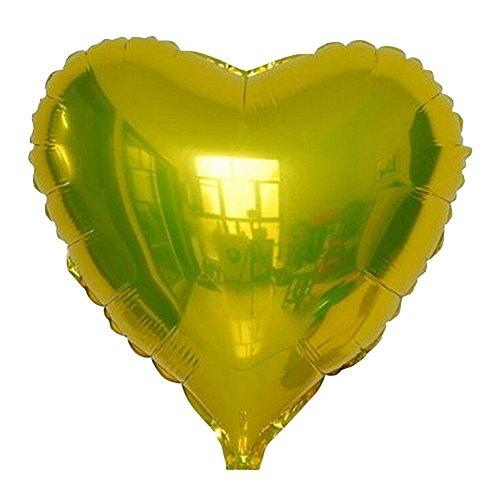 Jezmisy, palloncino, super grande cuore forma gonfiabile film di alluminio decorazione festa di nozze-dorato